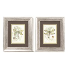 Dragonfly Framed Painting Print (Set of 2)