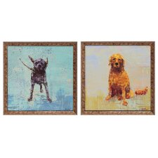 <strong>Propac Images</strong> Shake / Golden Dog Wall Art (Set of 2)