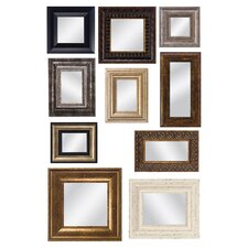 Mirror Assortment with Frames Wall Decor (Set of 10)