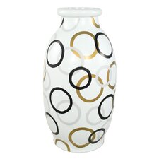 Modern Circles Round Decorative Vase