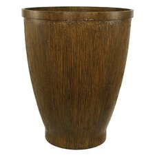 Wood Grain Round Planter