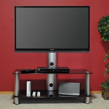 "<strong>Tier One Designs</strong> 60"" Inch and Below Black Glass TV Mount"