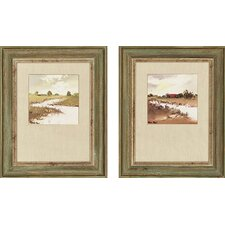 "<strong>Paragon</strong> Farmlands by Paus Landscapes Art - 17"" x 21"" - 7112 (Set of 2)"