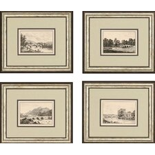 "Idyllic Bridges by Wood Landscapes Art - 18"" x 21"" (Set of 4)"
