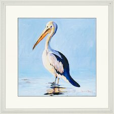 "Pelican by Bombosse Waterfront Art - 35"" x 35"""