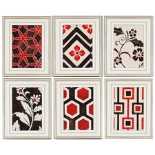 "Textiles by Smith Architectural Art - 22"" x 18"" (Set of 6)"
