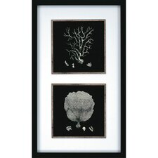"Coral by Unknown Waterfront Art - 36"" x 21"" (Set of 2)"