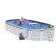 "<strong>Heritage Pools</strong> Oval 52"" Deep Tango Above Ground Complete Deluxe Pool Package"