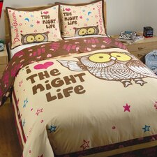 Night Life 2 Piece Twin Duvet Set