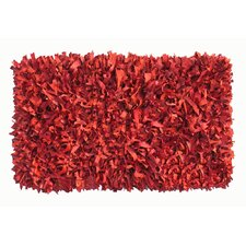 Thalassa Premium Leather Red Rug