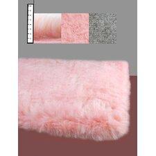 Eros Faux Flokati Pink Rug