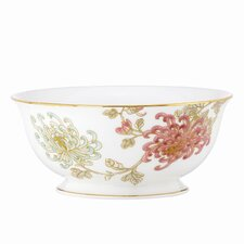 "Painted Camellia 8.5"" Serving Bowl"