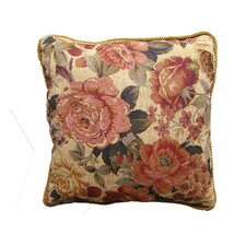 Jacquard Golden Romance Square Cushion