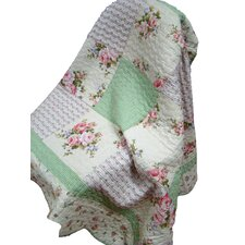 "100% Cotton Quilted Spring Patchwork 50"" x 60"" Throw"
