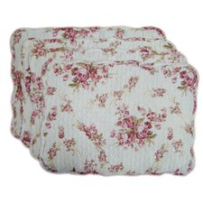 Quilted Vintage Rosie Placemat Set (Set of 4) (Set of 4)