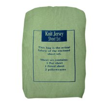 100% Cotton Solid Jersey Knit Sheet Set