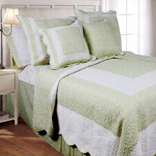 10 Pcs Quilt Set, Bed in a Bag, Meadow Green