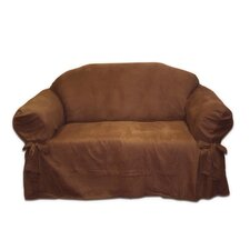 <strong>Textiles Plus Inc.</strong> Faux Suede Loveseat Slipcover