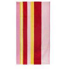 Velour Multi-Colored Stripe Beach Towel
