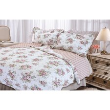 <strong>Textiles Plus Inc.</strong> Rose Perfume Quilt Set
