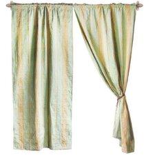 Jacquard Cotton Rod Pocket Curtain Panel (Set of 2)