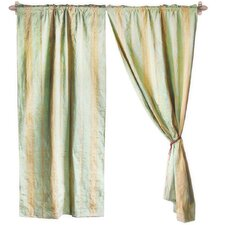 Jacquard Cotton Rod Pocket Sheer Curtain Panel Pair