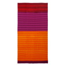 Fervid Summer Velour Striped Beach Towel