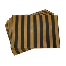 <strong>Textiles Plus Inc.</strong> Lined Jacquard Stripe Placemat (Set of 6)