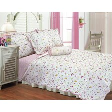 <strong>Textiles Plus Inc.</strong> Butterfly Dance Quilt Set With Cushions
