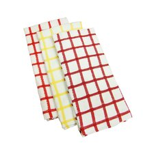 <strong>Textiles Plus Inc.</strong> Heavy Weight Check Kitchen Towel (Set of 6)