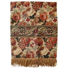 Vintage Floral Tapestry Throw