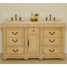 "<strong>Global Treasures</strong> Oxford 60"" Double Sink Vanity Set"