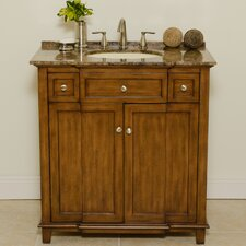 "<strong>Global Treasures</strong> New York 34"" Sink Cabinet Bathroom Vanity Set"