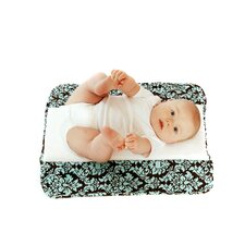 <strong>Ah Goo Baby</strong> The Plush Pad Memory Foam Changing Pad in Vintage In Blue