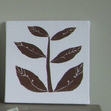 Leaflet Textile Painting Print on Canvas