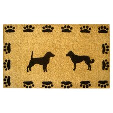 Dog with Paws Doormat