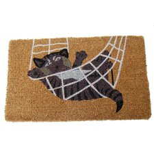 Cat in Rope Doormat