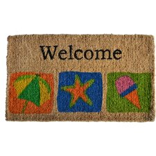 <strong>Imports Decor</strong> Welcome Beach Doormat