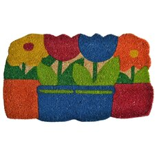 <strong>Imports Decor</strong> Flowers Pots Doormat