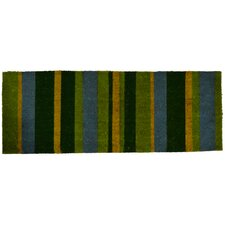 Green Stripes Doormat