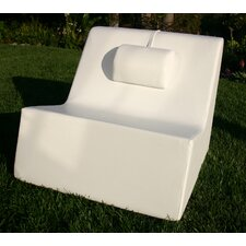 Armless Lounge Chair with Massage Pillow