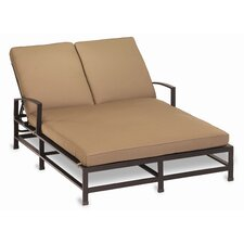<strong>Sunset West</strong> La Jolla Double Chaise Lounge with Cushion
