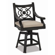 Del Mar Swivel Barstool with Cushion
