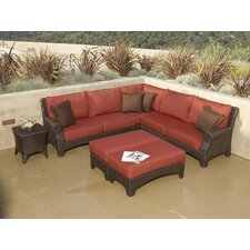 <strong>Sunset West</strong> Santa Barbara Sectional Sofa with Cushions