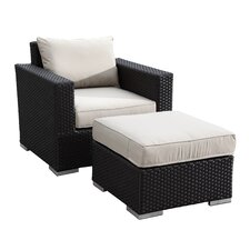 Solana Club Chair and Ottoman with Cushions
