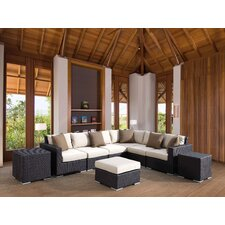 <strong>Sunset West</strong> Solana Sectional with Cushions
