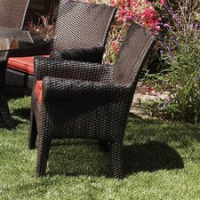 <strong>Sunset West</strong> Santa Barbara Dining Arm Chair with Cushion