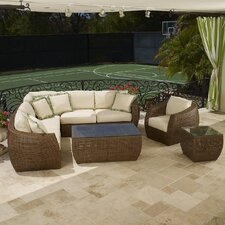 <strong>Sunset West</strong> Huntington Sectional Deep Seating Group with Cushions