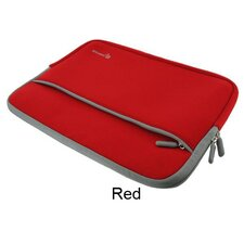 "Dual Pocket Neoprene Sleeve Invisible Zipper Case for 12"" Netbook"