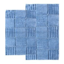 <strong>Chesapeake Merchandising Inc.</strong> Checkerboard Contemporary Bath Rug (Set of 2)